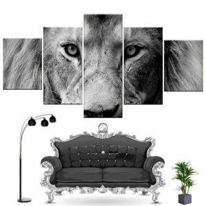 lion canvas painting