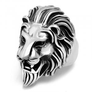 Lion Head Ring Steel