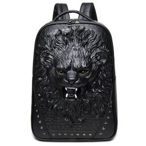 3D Lion Head Backpack