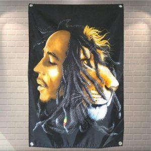 Bob Marley Lion Flag