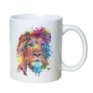 Graphic Painting Lion Mug