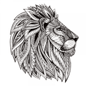 Indian Lion Temporary Tattoo