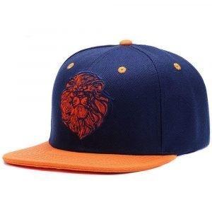 Orange Lion Head Cap