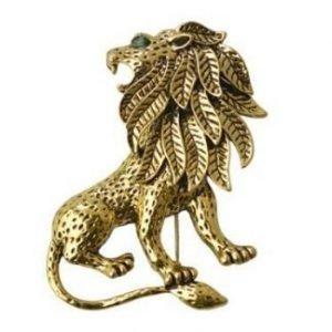 Retro Lion brooch