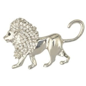 Silver Lion Brooch