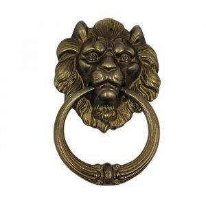 Brass Lion Head Door Knocker