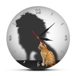 Cat Lion Wall Clock