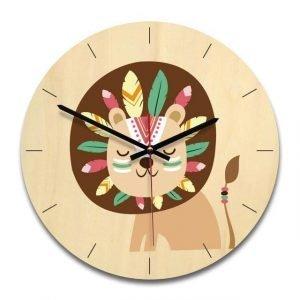 child lion clock