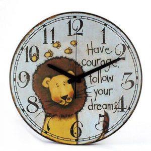 follow your dreams lion clock