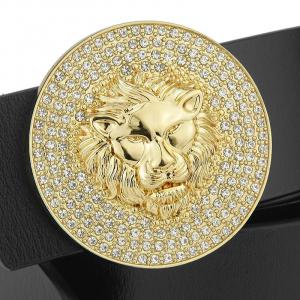 gold lion belt buckle