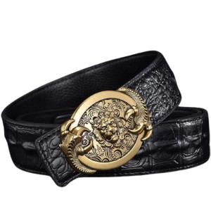 gold lion head belt buckle