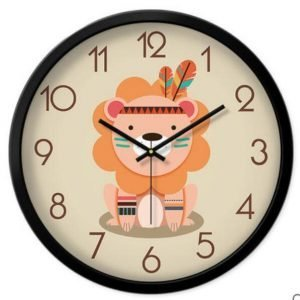 Indian lion wall clock