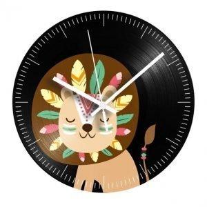 Indian vinyl lion clock