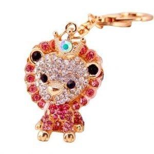 jewel lion keychain