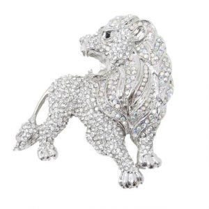 jeweled lion brooch