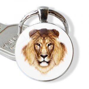 lion face keychain