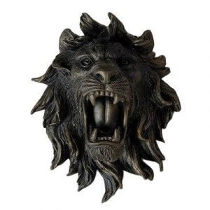 large lion head wall mount