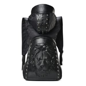 Leather Lion Backpack