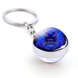 leo zodiac sign keychain