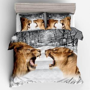 lion and lioness bedding