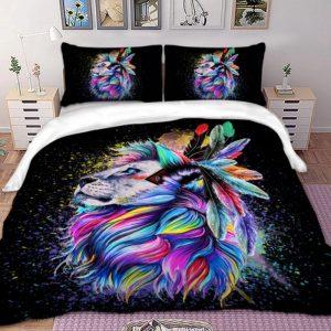 lion bed set queen
