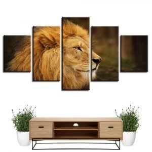 canvas painting of lion