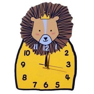 lion crown wall clock
