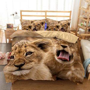 lion cub bed set queen size