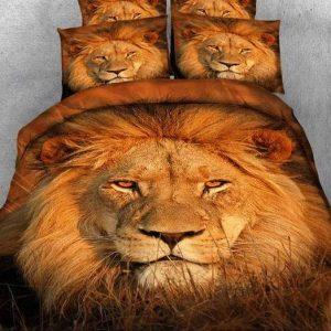 lion head bed set queen size