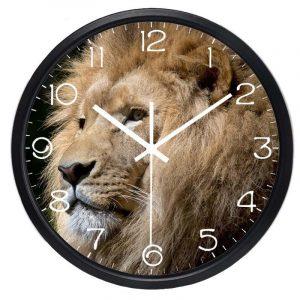 lion head clock