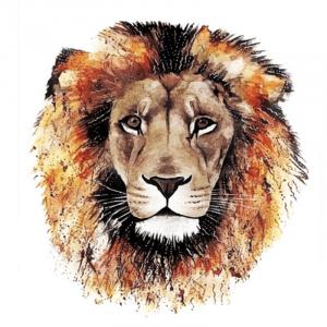 Lion Head Temporary Tattoo