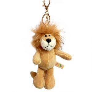 lion keychain plush