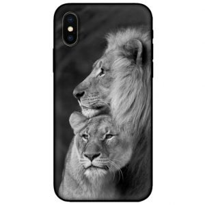lion lioness iphone case