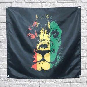 Rasta Lion Flag