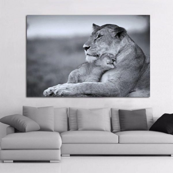 Lioness and Cub Wall decor