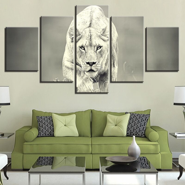 Lioness Black and White wall art