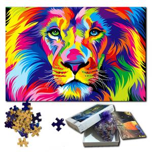 500 Piece Multicolored Lion Puzzle
