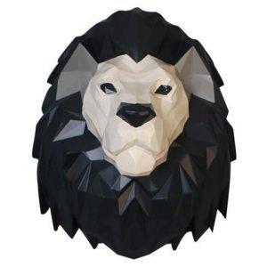 origami lion head wall decor