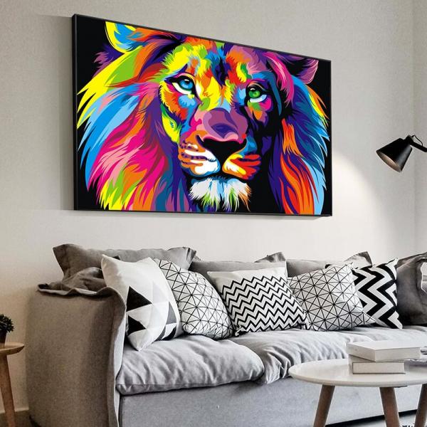 Pop Art Lion wall art