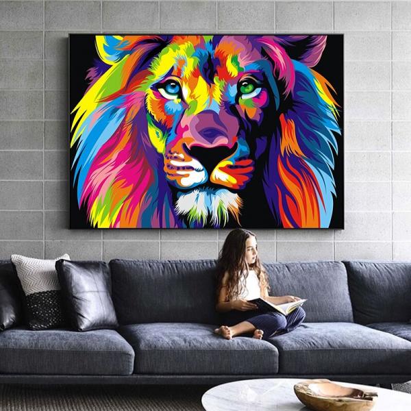 Pop Art Lion canvas