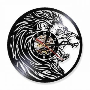 roaring lion clock