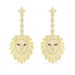 Silver Lion Earrings