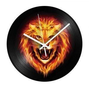 Vinyl Lion Clock