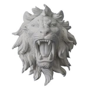 white lion head for wall