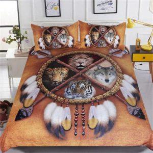 wild animals bed linen set