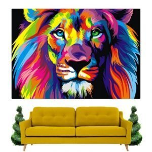 Abstract Painting of a Lion