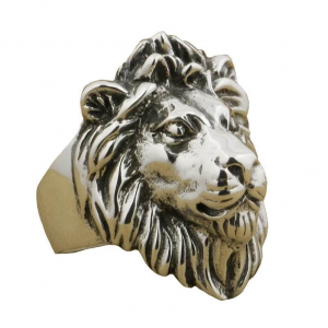 Atlas Lion Ring Silver