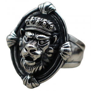 Coat of Arms Lion Head Ring