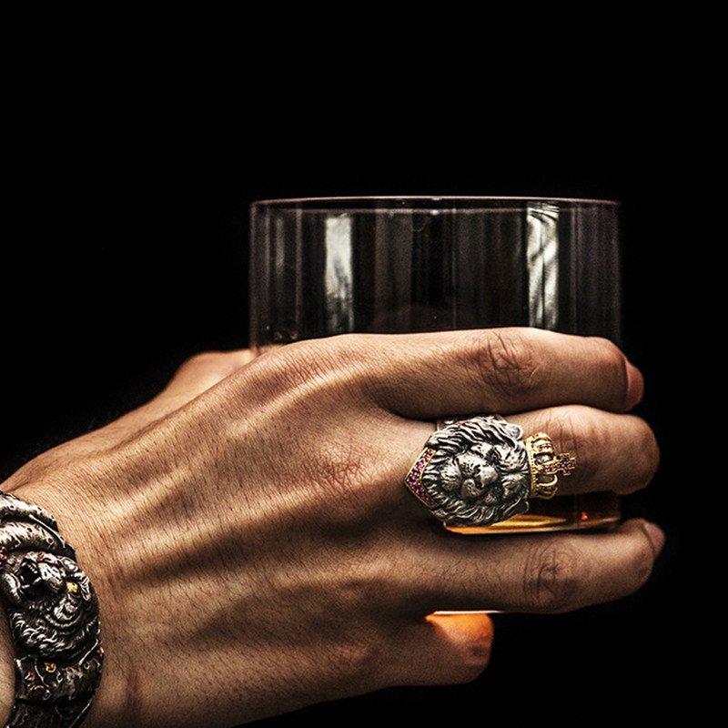 Lion Head Ring Crystal