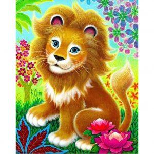 Cartoon Lion Painting